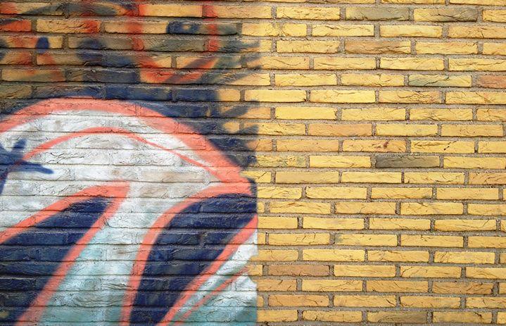 geheel op muur